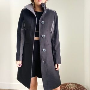 NWT JESSICA Pea Coat Black Form Fitting 8